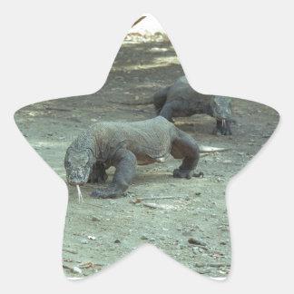 Komodo Dragon Star Ornament Star Sticker