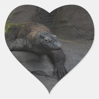 Komodo Dragon Heart Sticker