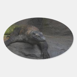 Komodo Dragon Oval Sticker