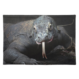 komodo dragon tongue out drooling placemat