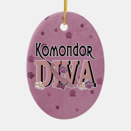 Komondor DIVA Ceramic Oval Decoration
