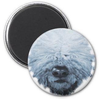Komondor Dog 6 Cm Round Magnet