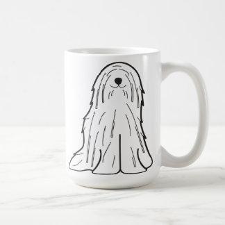 Komondor Dog Cartoon Basic White Mug