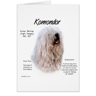Komondor History Design Card
