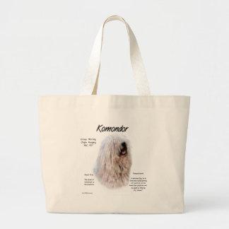 Komondor History Design Large Tote Bag