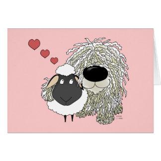 Komondor - I Love Ewe! Card