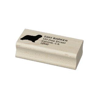 Komondor Silhouette Return Address Rubber Stamp
