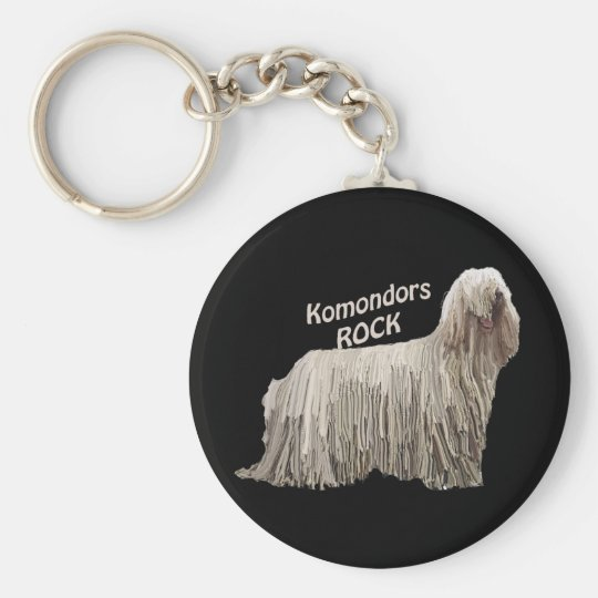 Komondors Rock Basic Round Button Key Ring