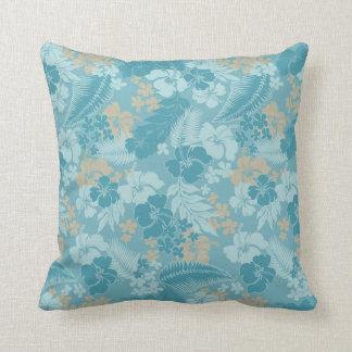 Kona Bay Hawaiian Hibiscus Throw Pillow