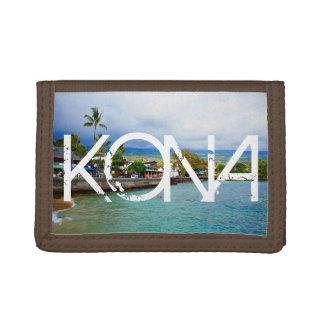 KONA Hawaii w/ Oil Paint Art Trifold Wallet