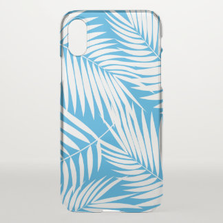 Kona Palms Hawaiian Leaf Tropical Blue iPhone X Case