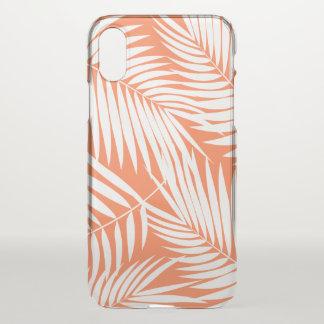 Kona Palms Hawaiian Leaf Tropical Papaya iPhone X Case