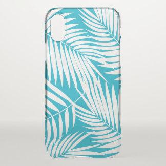 Kona Palms Hawaiian Leaf Tropical Teal iPhone X Case