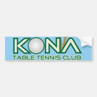 Kona Table Tennis Club Logo Bumper Sticker