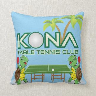 Kona Table Tennis Club Throw Pillow