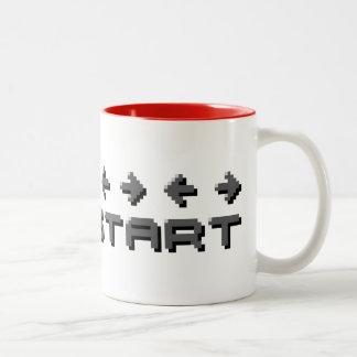 Konami Code 8-bit Pixel Two-Tone Mug