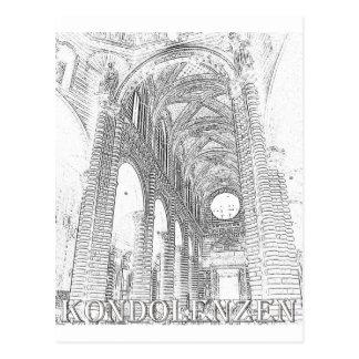 Kondolenzen - Kirche - Linie Postcard