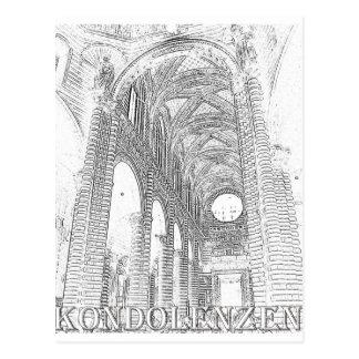 Kondolenzen - Kirche - Linie Post Cards