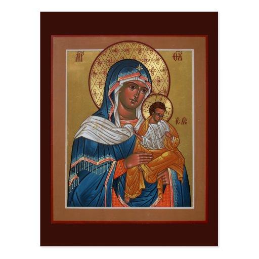 Konevitsa Mother of God Prayer Card Post Cards