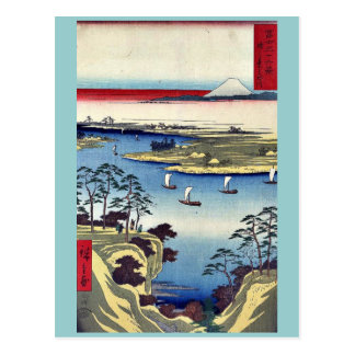 Konodai and Tone River by Ando, Hiroshige Ukiyoe Postcard