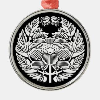 Konoe botan Silver-Colored round decoration