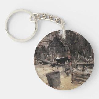 Konstantin Korovin- Yard Acrylic Keychain