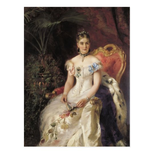 Konstantin Makovsky- Portrait of Countess Maria Postcard