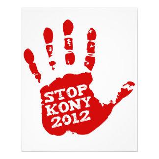Kony 2012 Handprint Stop Joseph Kony Flyer Design
