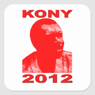 Kony 2012. Make Invisible Children Visible. Now. Square Sticker