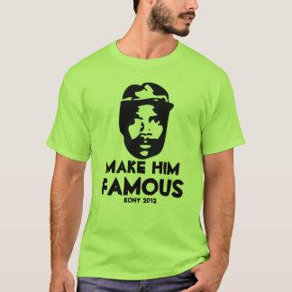 kony 2012 pop art make him famous T-Shirt