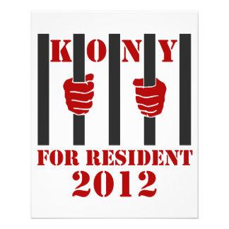 Kony 2012 Stop Joseph Kony Prison Full Color Flyer