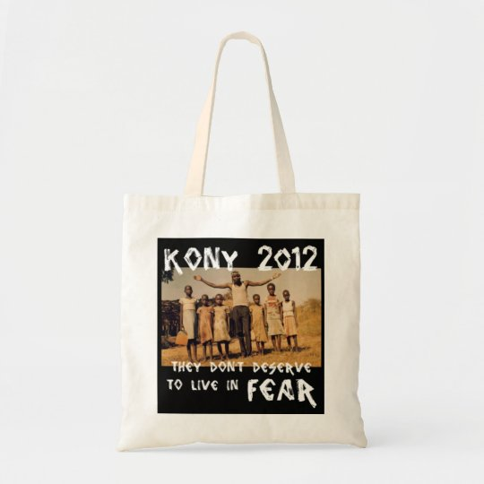 KONY 2012 - Stop the Fear Tote Bag