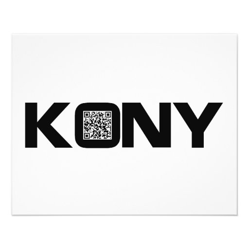 Kony 2012 Video QR Code Joseph Kony Full Color Flyer