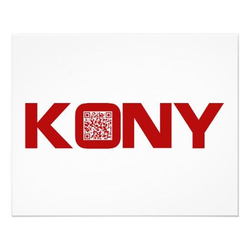 Kony 2012 Video Red QR Code Joseph Kony Custom Flyer