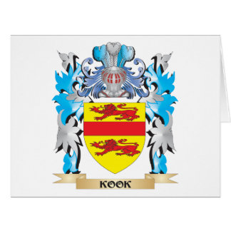 Kook Coat of Arms - Family Crest Greeting Card