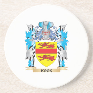 Kook Coat of Arms - Family Crest Drink Coasters