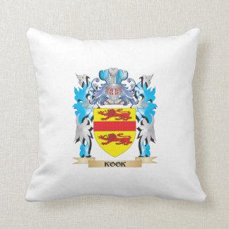 Kook Coat of Arms - Family Crest Throw Pillows