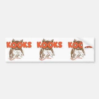 kook hoot owls bumper stickers