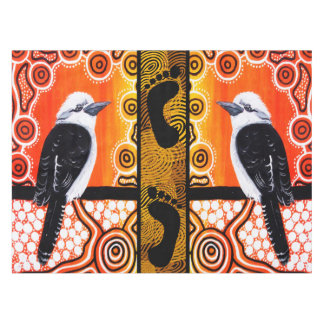 Kookaburra Dreaming Aboriginal Art Tablecloth