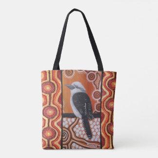 Kookaburra Dreaming Aboriginal Tote Bag
