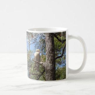 Kookaburra in tree coffee mug