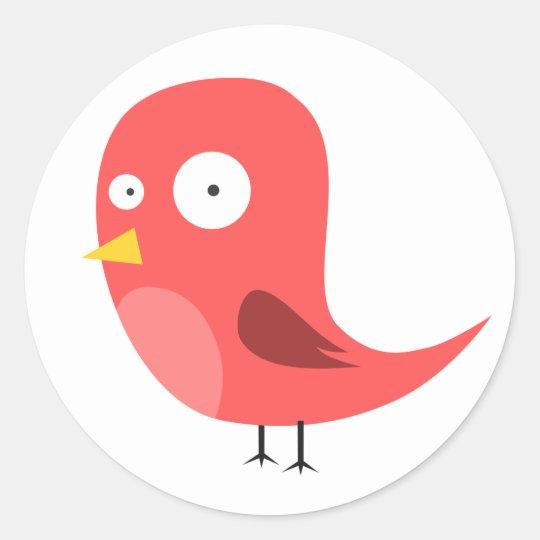 Kooky Birdie Classic Round Sticker