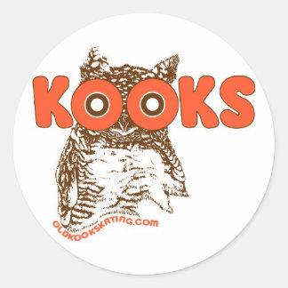 Kooky Owl Round Sticker