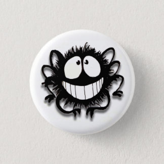 Kooky Spider Button! Cute! 3 Cm Round Badge