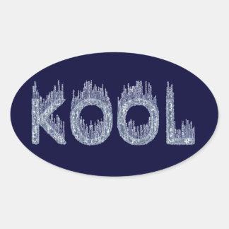 Kool - Ice Cold Design Oval Stickers