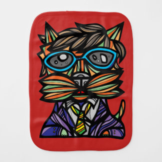 """Kool Kat"" Burp Cloth"