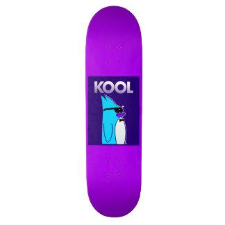 KOOL Penguin™ Brand Purple Cartoon Skateboard Deck