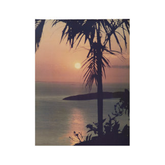 Koolan Sunrise Retro Wood Poster