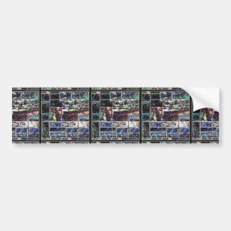 KOOLshades BLACK Abstract GRAPHIC Design Bumper Stickers