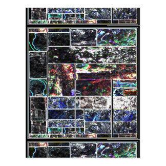 KOOLshades BLACK Abstract GRAPHIC Design Postcard
